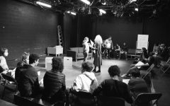 Eighth graders take theater games class at Black Box Theatre