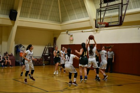 Girls' Varsity Basketball loses to Maria Regina despite valiant effort