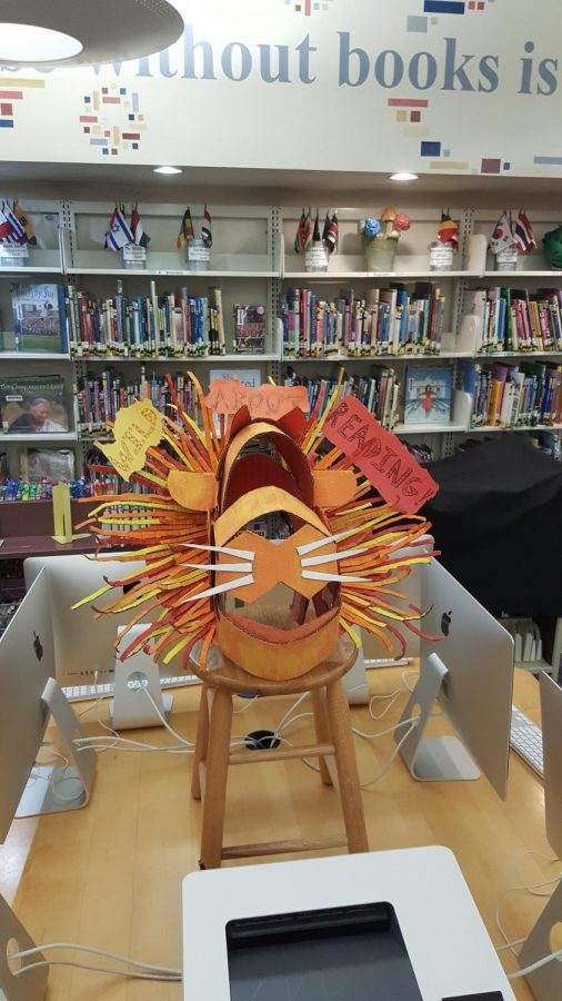 ROAR%3A+Students%E2%80%99+art+project+displayed+at+LD+book+fair.