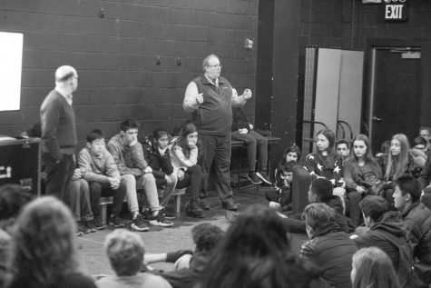 Renowned historian speaks at assembly