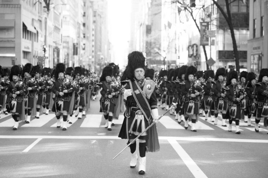 Security+department+members+play+in+NYPD+Drums+and+Pipes+band