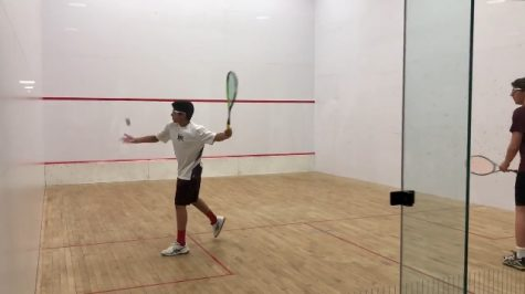 Varsity Squash battles the other hill schools early in the season