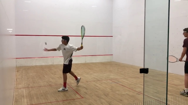 NOT A VEGETABLE: Kush Malhotra (9) winds up before starting the point