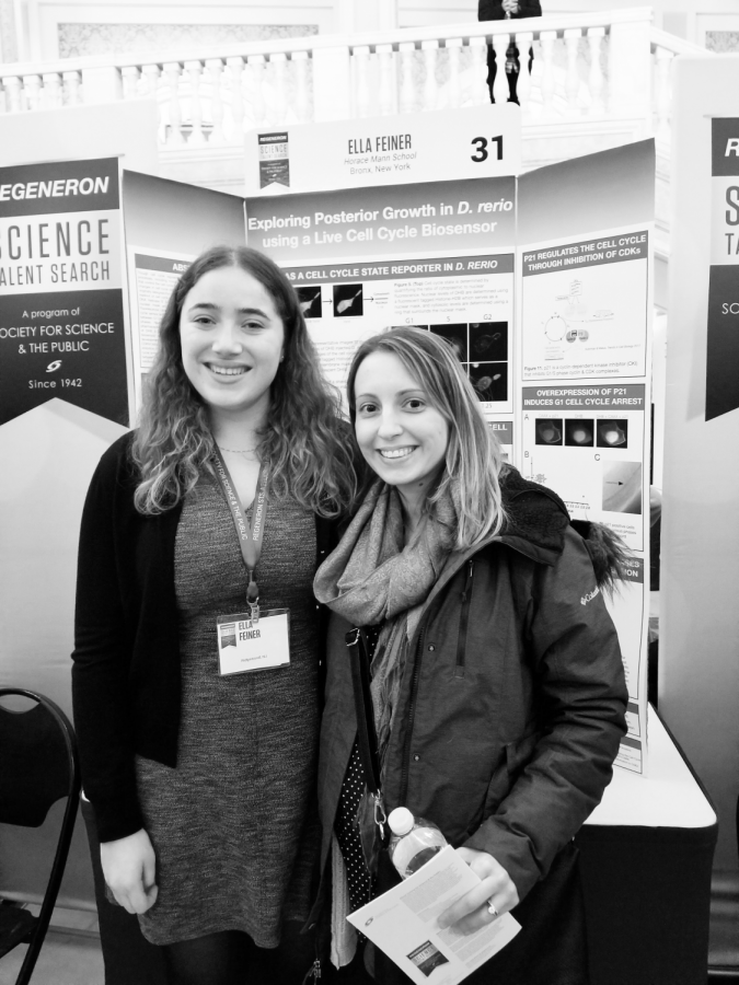Feiner (12) presents research in D.C. as Regeneron Science Talent Search finalist