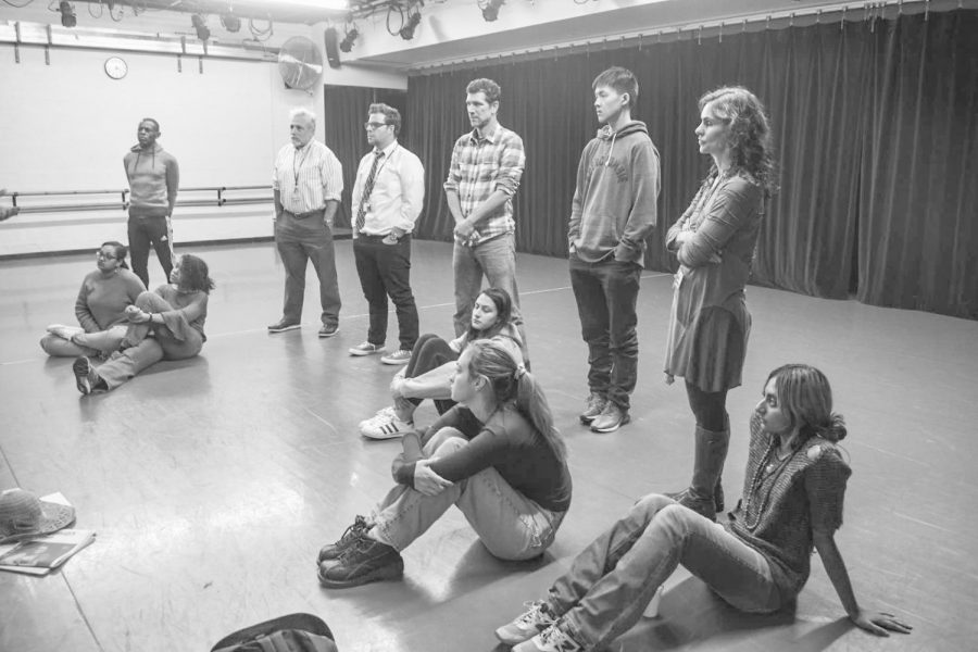 Faculty and students explore novel modes of  storytelling in Upper Division Tectonic Theatre workshop