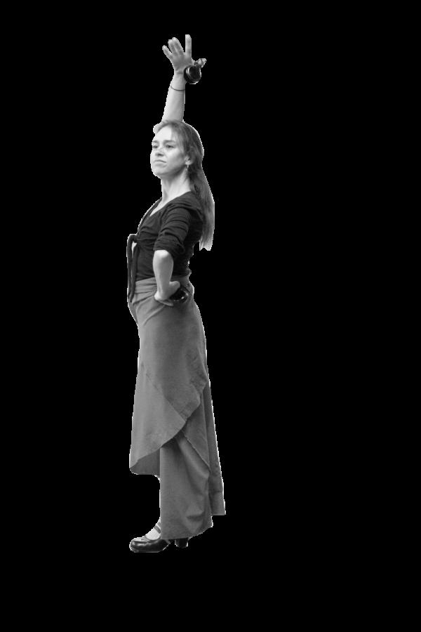 Flamenco dancer visits school during workshop