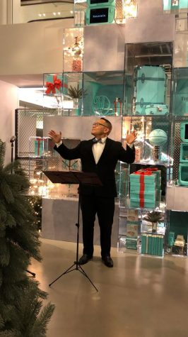 Choral ensembles perform at Tiffany's & Co. store opening