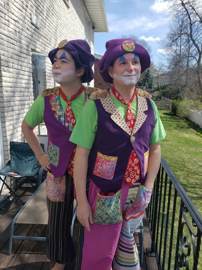 Chin (12) and his stepdad clown it up to create smiles in a time of need