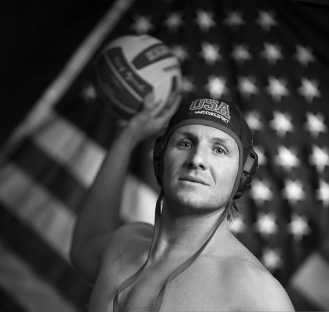 Water Polo player Tony Azevedo poses for a portrait at the 2016 Team USA Media Summit, March 9, 2016 in Beverly Hills, California. The 2016 Summer Olympics will be held in Rio de Janeiro, Brazil August 5-21. / AFP / VALERIE MACON / RESTRICTED TO EDITORIAL USE        (Photo credit should read VALERIE MACON/AFP via Getty Images)