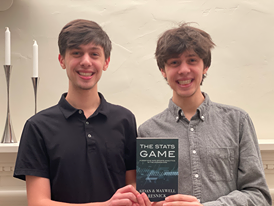 Aidan (12) and Maxwell Resnick (12) publish sports analytics book