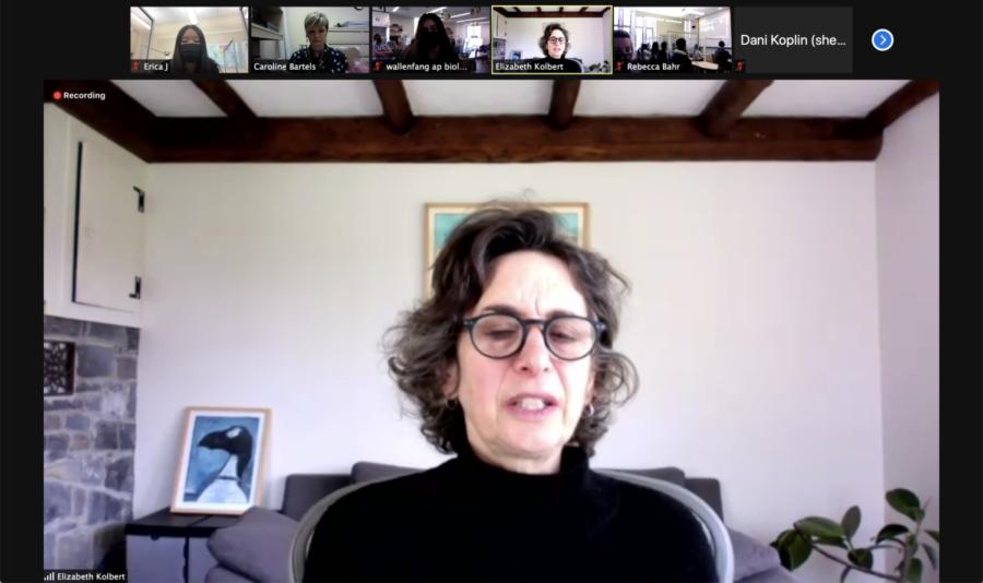 Journalist+Elizabeth+Kolbert+speaks+on+climate+at+assembly