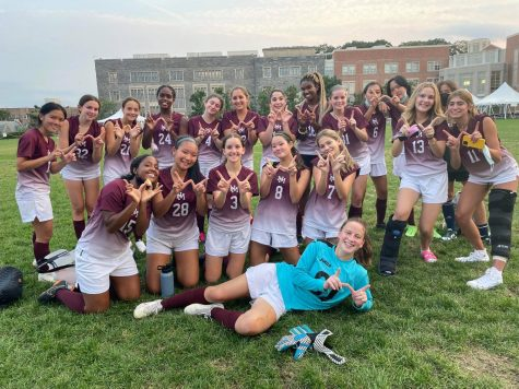 Girls Varsity Soccer team wins first match in three years