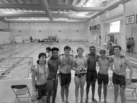 Varsity Water Polo celebrates historic win against Pingry